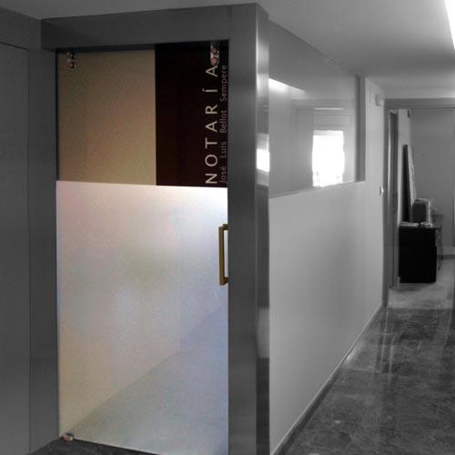 Pesarchitect - Puerta de la sala de reuniones
